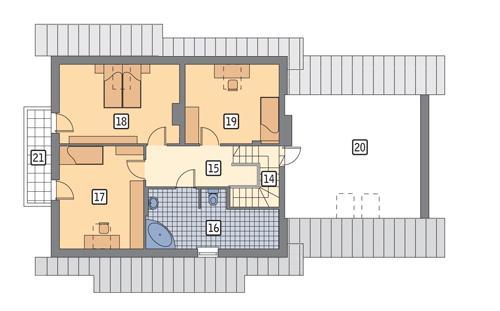 Rzut poddasza POW. 119,7 m²