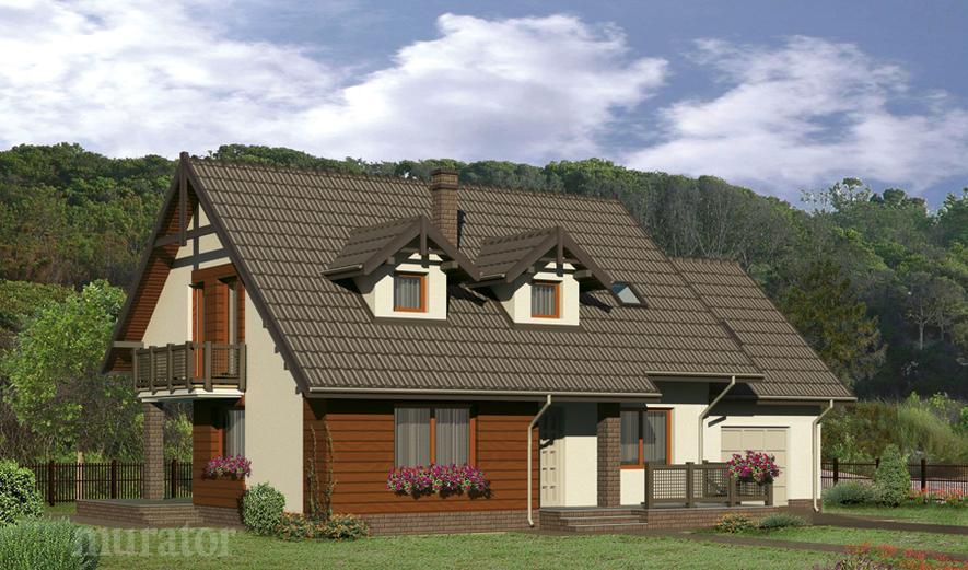 C110b Dom za rogiem - wariant II