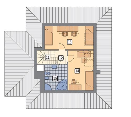 Rzut poddasza POW. 52,4 m²