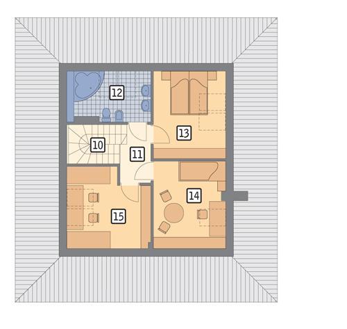 Rzut poddasza POW. 55,2 m²