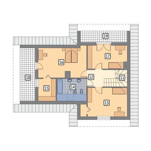 Rzut poddasza POW. 89,9 m²