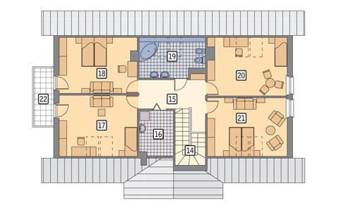 Rzut poddasza POW. 120,5 m²
