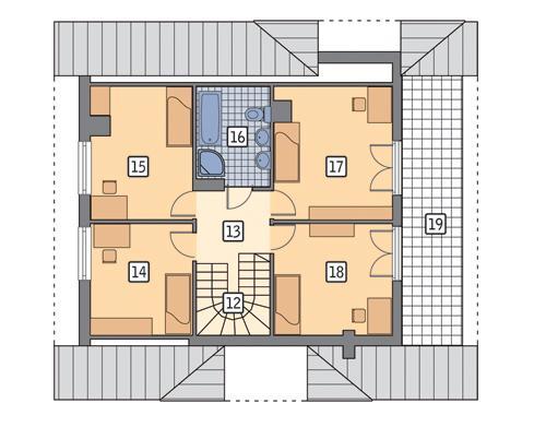 Rzut poddasza POW. 83,5 m²