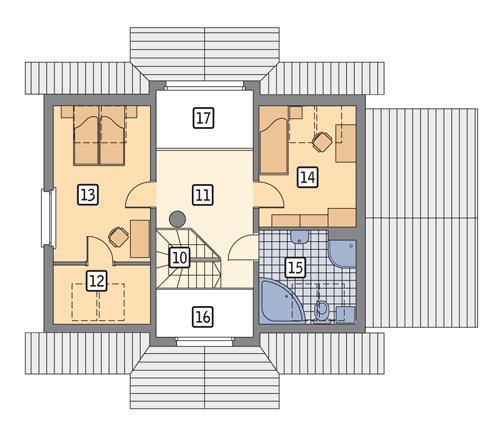 Rzut poddasza POW. 56,6 m²