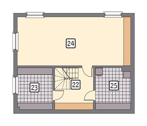 Rzut piwnicy POW. 78,1 m²