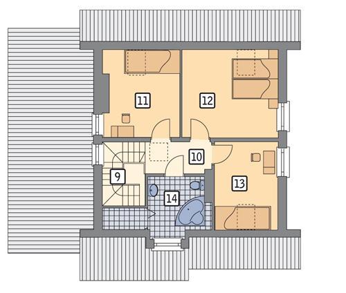 Rzut poddasza POW. 61,7 m²