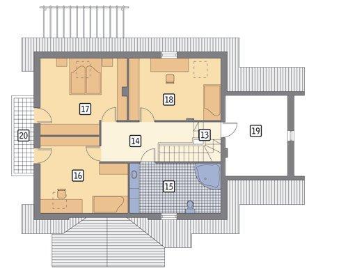 Rzut poddasza POW. 115,4 m²