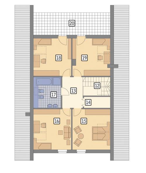 Rzut poddasza POW. 111,5 m²