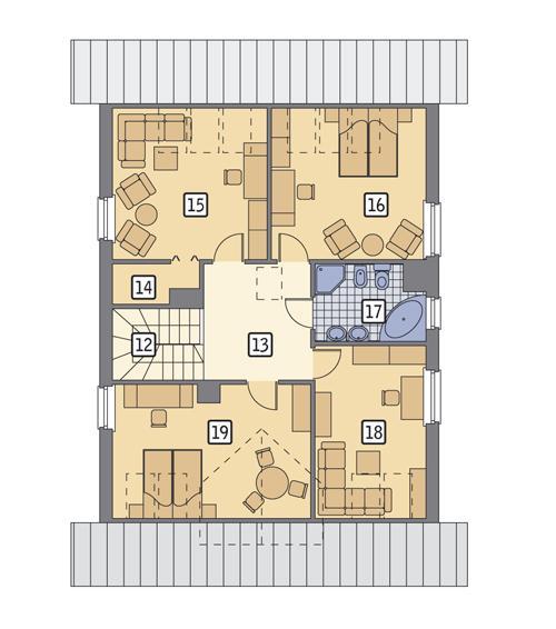 Rzut poddasza POW. 95,3 m²