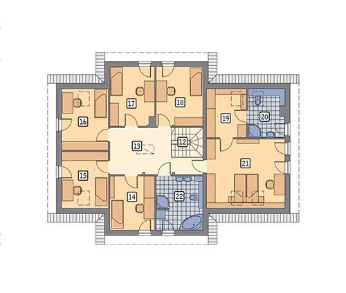 Rzut poddasza POW. 136,1 m²