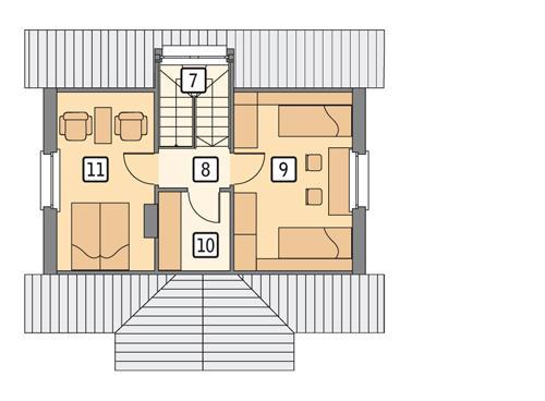 Rzut poddasza POW. 37,0 m²
