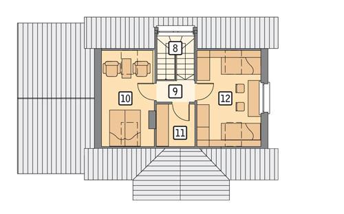 Rzut poddasza POW. 37,1 m²