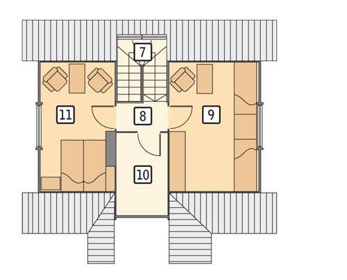 Rzut poddasza POW. 38,8 m²