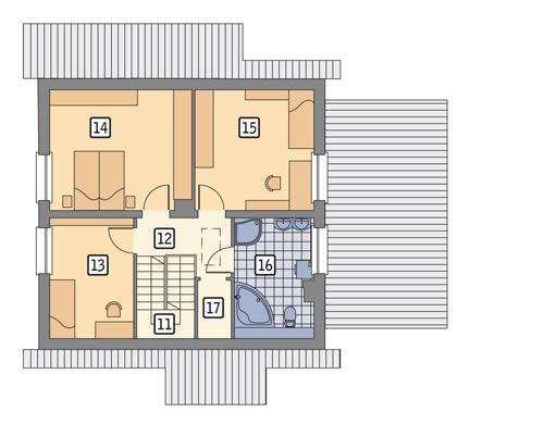 Rzut poddasza POW. 66,1 m²