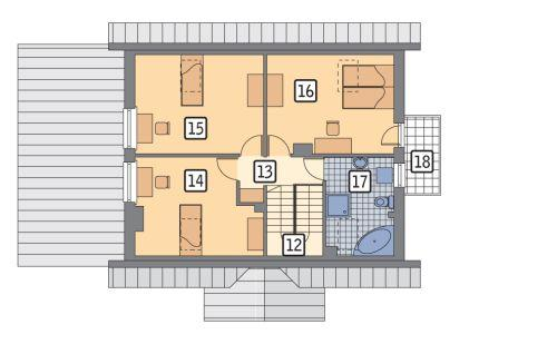 Rzut poddasza POW. 72,4 m²
