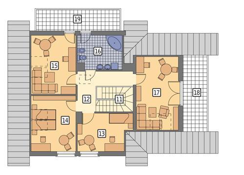 Rzut poddasza POW. 113,4 m²
