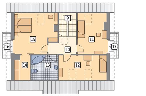 Rzut poddasza POW. 82,4 m²