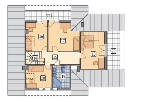 Rzut poddasza POW. 123,5 m²