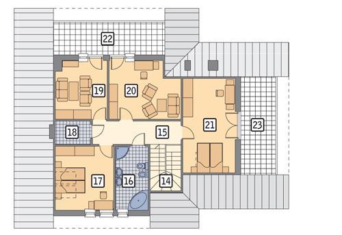 Rzut poddasza POW. 119,3 m²