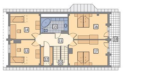 Rzut poddasza POW. 102,4 m²