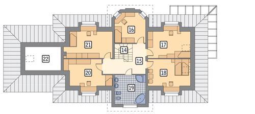 Rzut poddasza POW. 159,4 m²