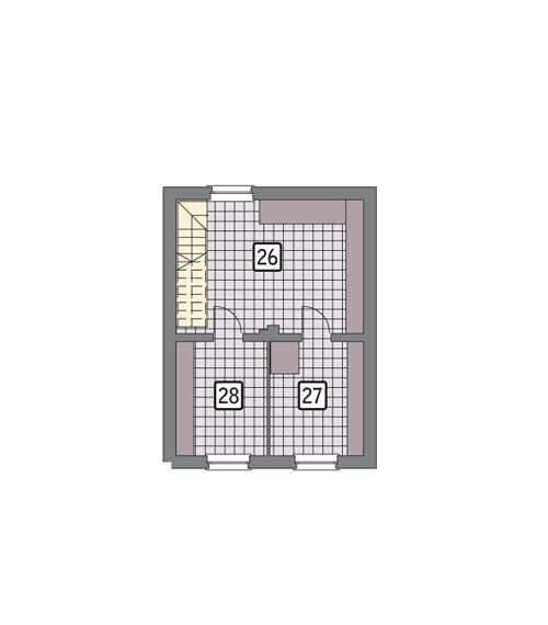 Rzut piwnicy POW. 43,0 m²