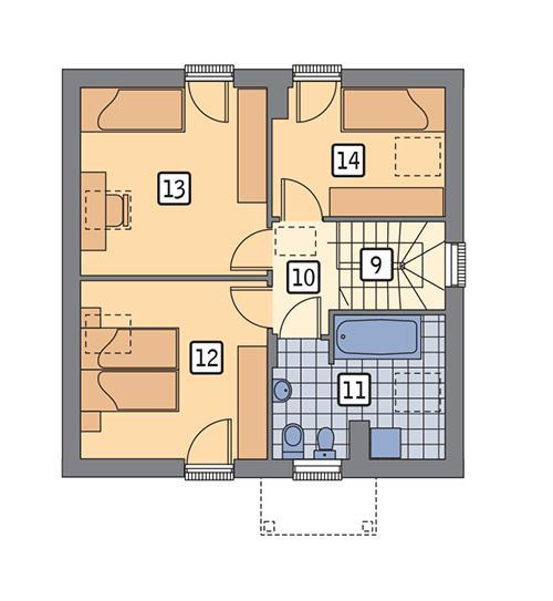 Rzut poddasza POW. 52,6 m²