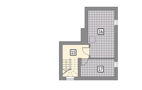 Rzut piwnicy POW. 27,8 m²