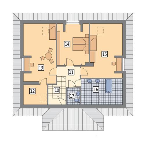 Rzut poddasza POW. 94,6 m²