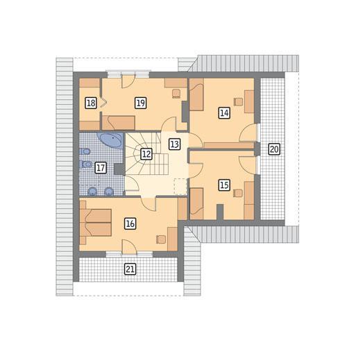 Rzut poddasza POW. 102,9 m²