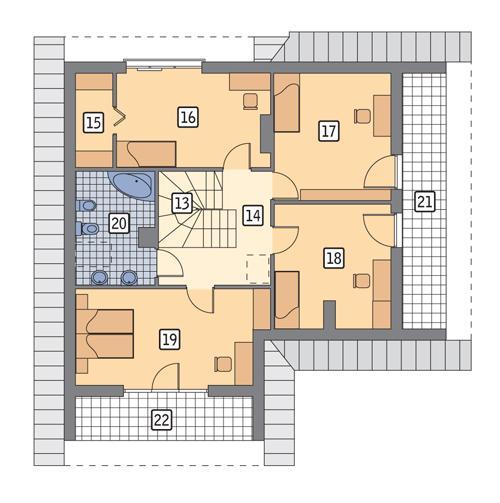Rzut poddasza POW. 103,0 m²