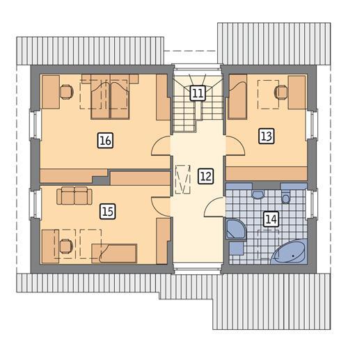 Rzut poddasza POW. 89,2 m²