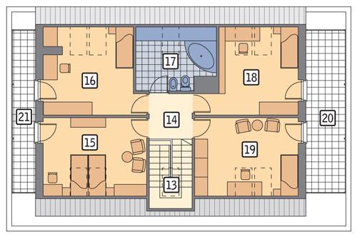 Rzut poddasza POW. 112,1 m²