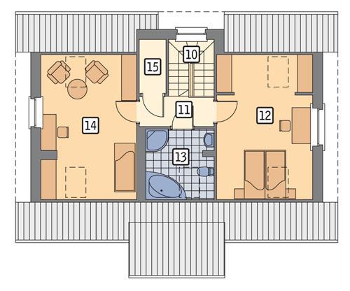 Rzut poddasza POW. 60,3 m²