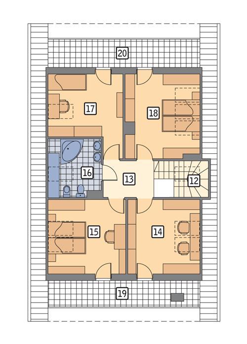 Rzut poddasza POW. 113,7 m²