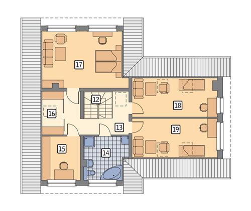 Rzut poddasza POW. 101,9 m²