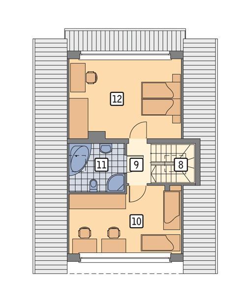 Rzut poddasza POW. 63,7 m²
