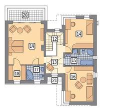 RZUT PIĘTRA POW. 94,9 m²