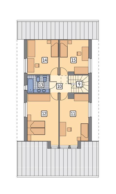Rzut poddasza POW. 83,1 m²