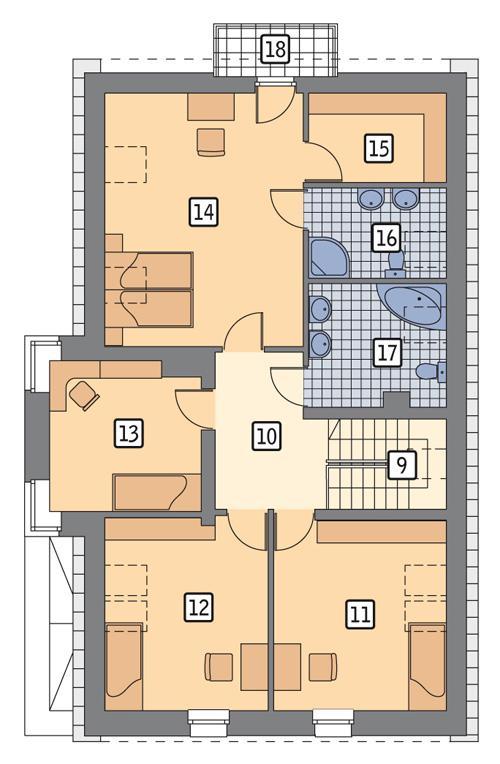 Rzut poddasza POW. 101,2 m²