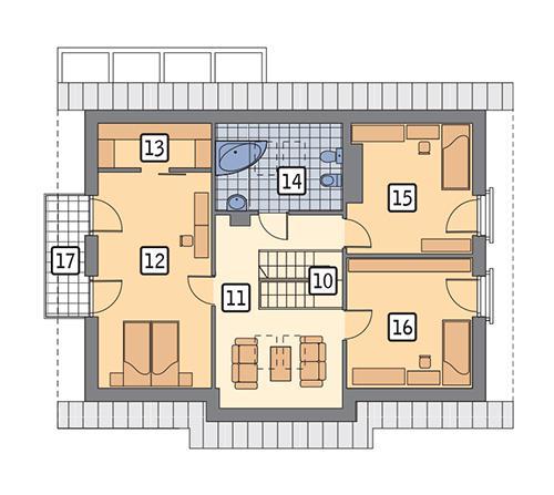 Rzut poddasza POW. 82,3 m²