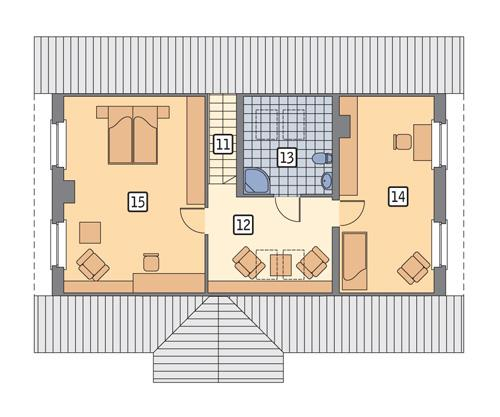 RZUT PODDASZA POW. 77,5 m²