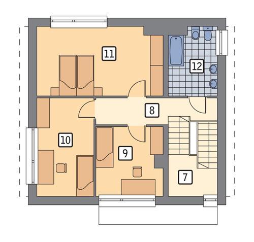 Rzut piętra POW. 64,7 m²