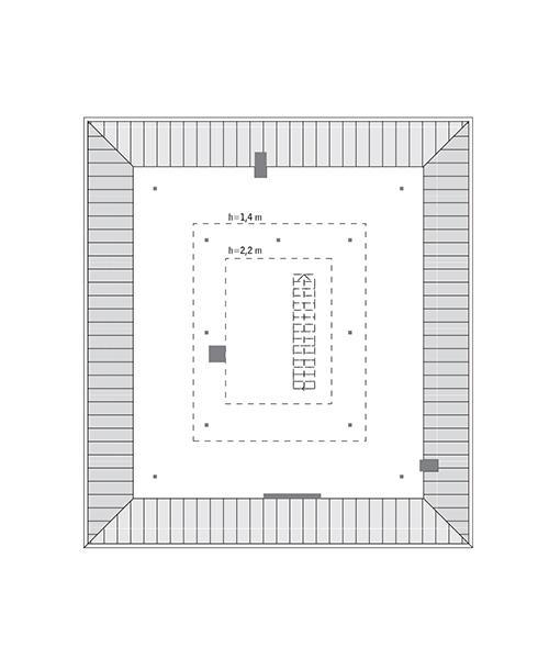 Rzut poddasza: do indywidualnej adaptacji (36,7 m2 powierzchni użytkowej)