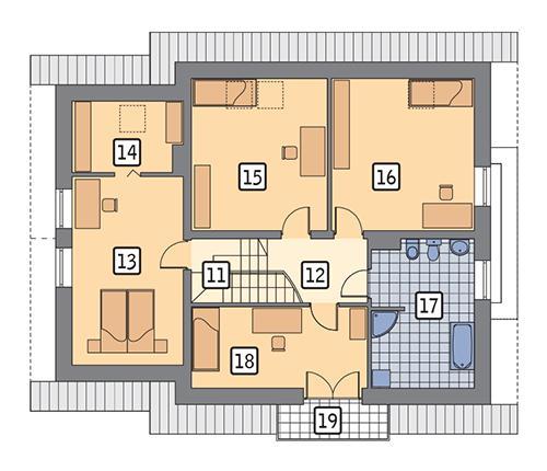 Rzut poddasza POW. 108,3 m²