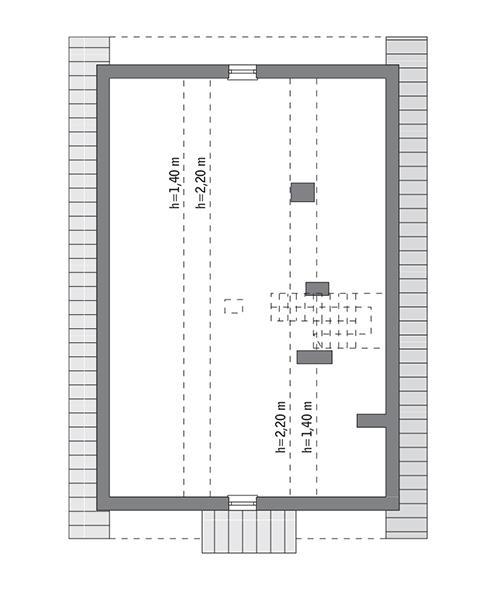 Rzut poddasza: Do indywidualnej adaptacji (47,5 m2 powierzchni użytkowej)