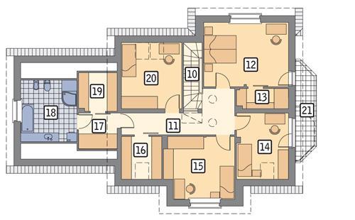 Rzut poddasza POW. 115,0 m²