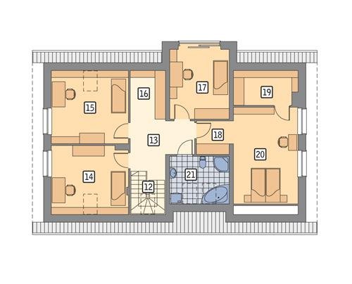 Rzut poddasza POW. 106,7 m²