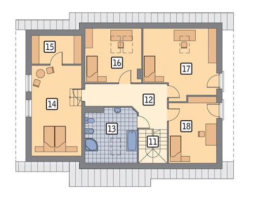 Rzut poddasza POW. 111,0 m²