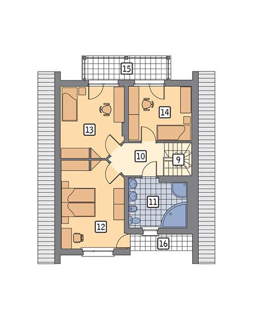 Rzut poddasza POW. 74,6 m²